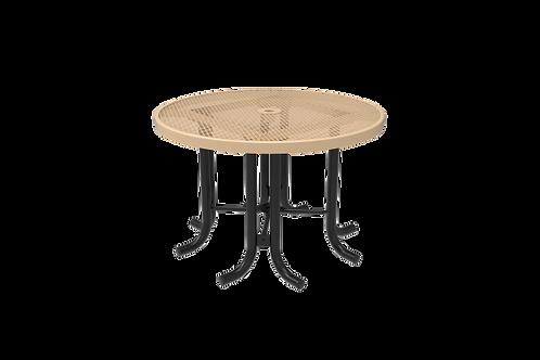 Diamond Pattern Round Patio Table