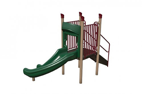 Freestanding 90 Degree Curve Slide