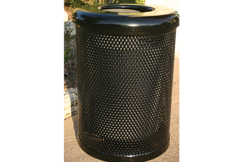 32 Gallon Trash Receptacle with Perforated Steel