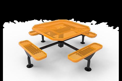 Octagon Nexus Pedestal Table with Diamond Pattern