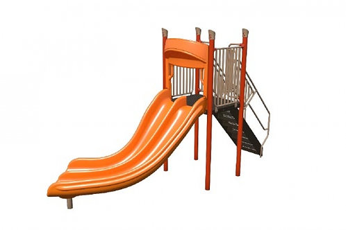 Freestanding Double Curve Slide