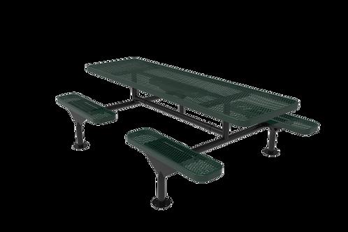 Rectangular Nexus Pedestal Table with Diamond Pattern
