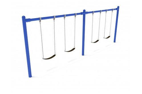 8 feet high Elite Single Post Swing - 2 Bays