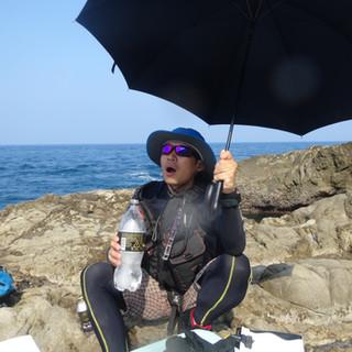 灼熱の佐多岬とタイペイさん