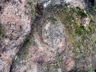 Les énigmes de Morenci, signes gravés semblables à ceux de la croix, vue rapprochée.