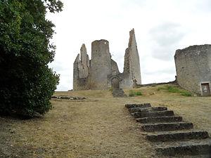 Vue d'une partie des ruines du château des évêques de Poitiers.