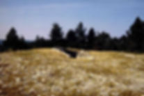 dolmen, dolmen à accès coudé, dolman dont le couloir fait un code, dolmen sans dalle supérieure, vue en perspective