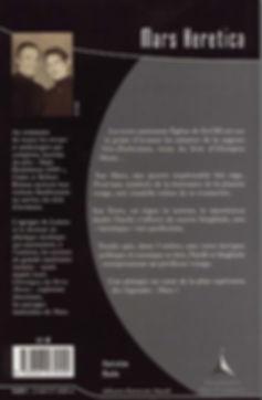 """Quatrième de couverture de notre roman """"Mars Heretica""""."""