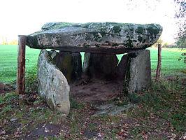 Vue dela chambre funéraire du dolmen de la Borderie.