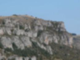 fortifications protohistoriques, cap barré du Cayla, vue élargie