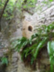 Moulin à turbines de Sirogne. Entrée de four. Vue éloignée.
