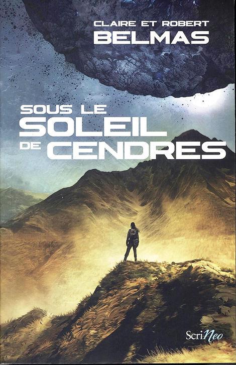 """Couverture de notre roman : """"Soleil de Cendres."""