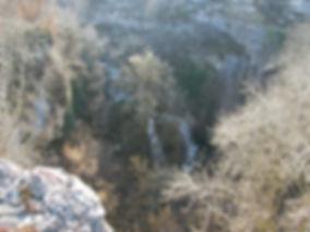 Vallée de la rivière Alzou en hiver.