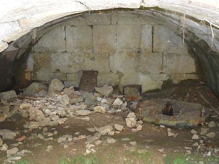 Moulin à turbines de Tournefeuille. Vue générale du compartiment des turbines.