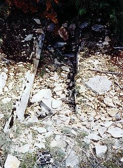 variante de dolmens : les coffres funéraires. Vue rapprochée du coffre funéraire 2