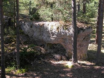 Vestiges du village protohistorique, éléments naturels de l'enceinte.