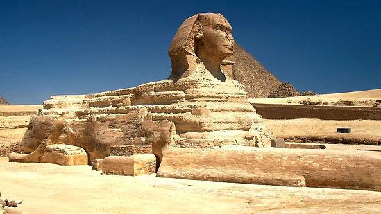 Photo imposante du sphinx de Gizeh