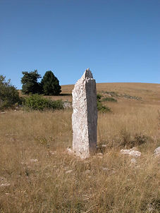 mégalithes, menhirs, vue du menhir simple 1
