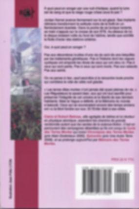 """Quatrième de couverture de notre roman """"Mémoires des Terres Mortes""""."""