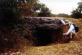 Randonnées pédestres dans des lieux insolites. Lien vers les pages sur les dolmens, menhirs et cromlechs. Photo : dolmen à dalle massive.