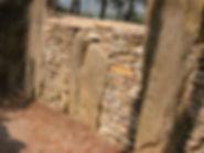 dolmen, allée couverte, détail du couloir du dolmen