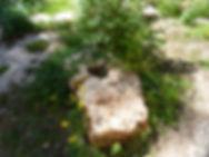 Fragment de meule du moulin ruiné à côté du gouffre de Cabouy