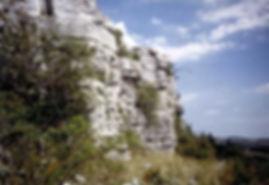Fortifications protohistoriques, cap barré de Montredon, vue du côté des falaises.