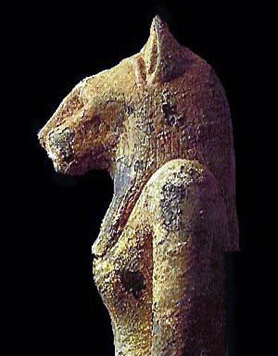 Photo d'une statue de la déesse égyptienne Sekhmet.