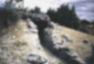 dolmen, dolmen à accès par couloir rectiligne 2, couloir court en pierres sèches