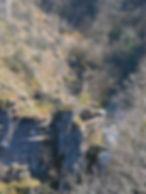 Moulin du Saut dans la vallée de l'Alzou. Vue globale.