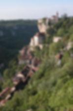 Vue de la vieille ville de Rocamadour