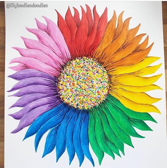Rainbow Sunflower