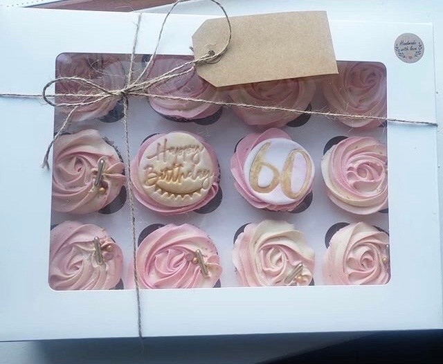 Ombré rose swirl cupcakes