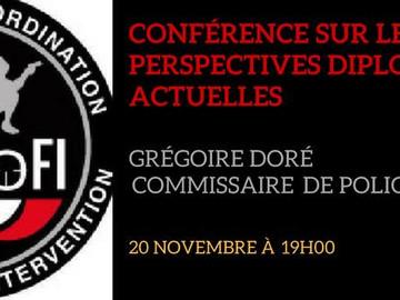 Conférence avec Grégoire Doré, Commissaire de Police
