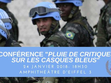 """Conférence """"Pluie de critiques sur les casques bleus"""""""