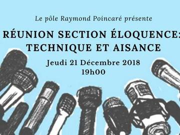 Réunion section Éloquence: Technique et Aisance