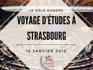 Voyage d'études à Strasbourg