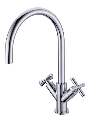 NSS Monoblock Cross Head Tap Chrome
