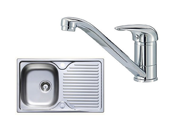 Astarcast Rhone compact sink plus one lever tap