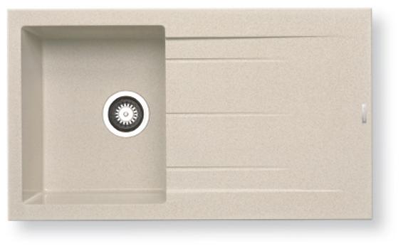 Alazia Granite single bowl white/ granite/ beige