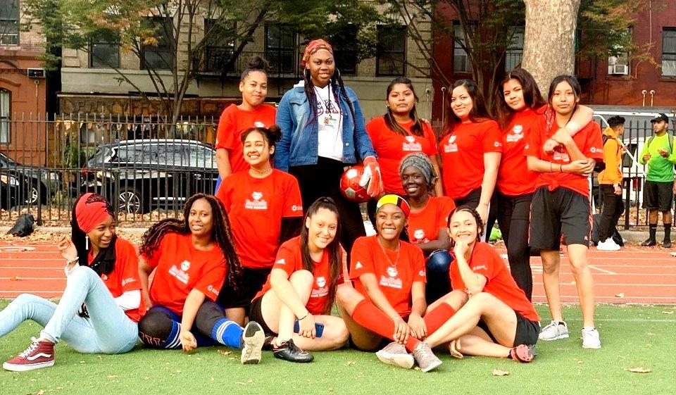 ICHS students, girls soccer team group.j