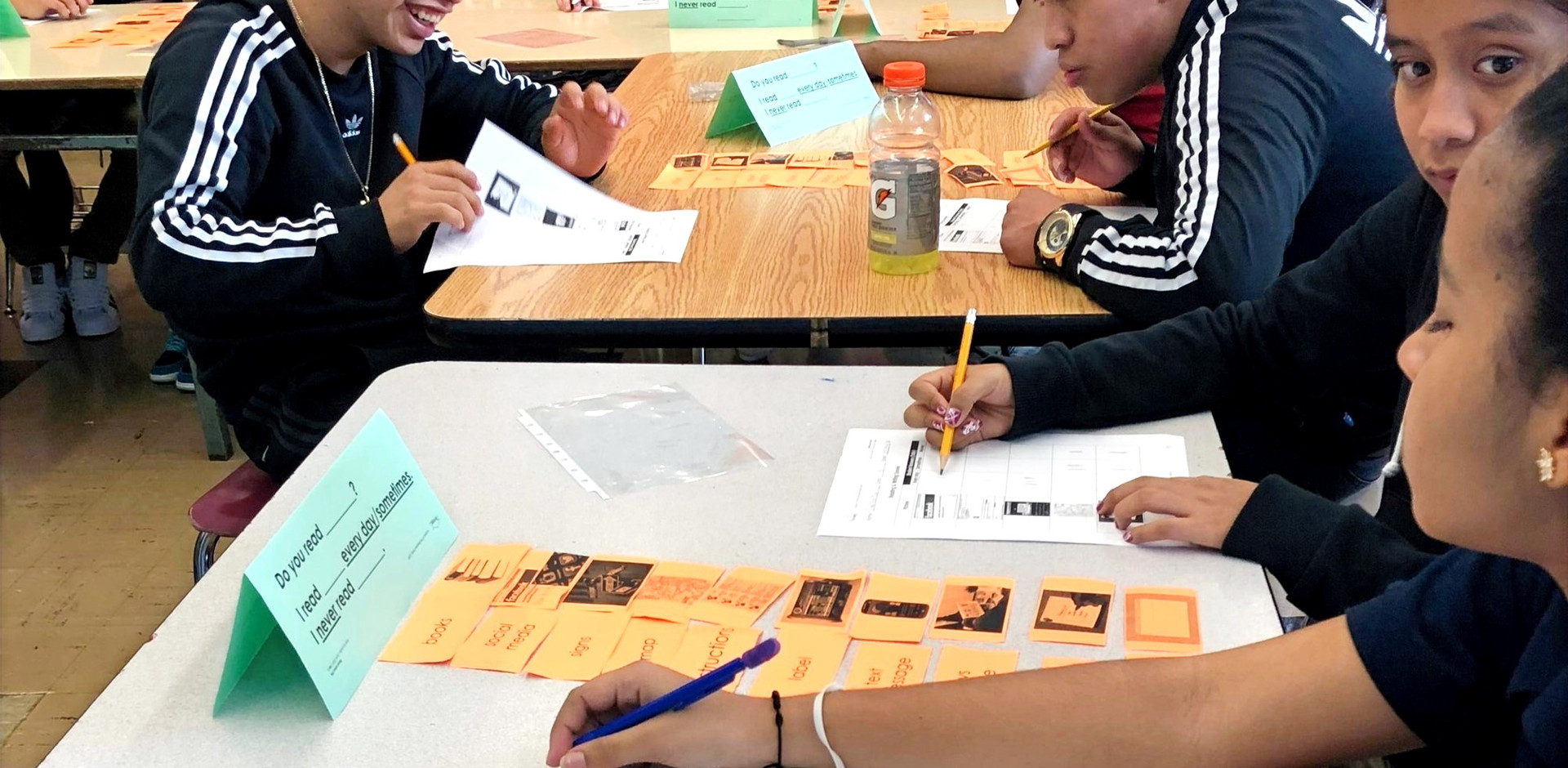 Students Use Sentence Manipulatives