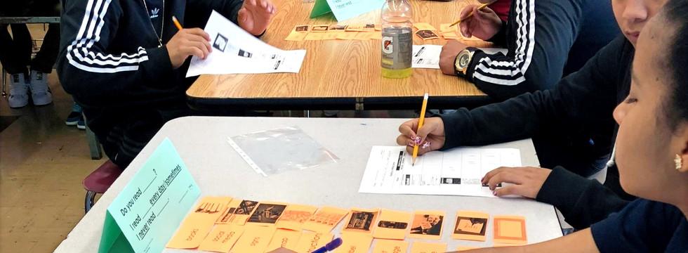 Students Use Sentence Manipulatives