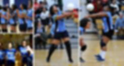 ICHS students girls volleyball serving g
