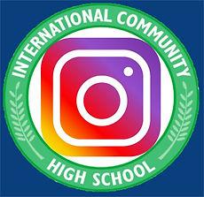 ICHS Insta blue background ICHS International Community High School Bronx ELLs English Lan