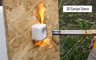 Sandviç panel yangın testi