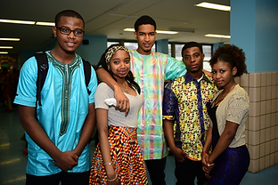 Photo of ICHS Students Sharing Culture Clothing