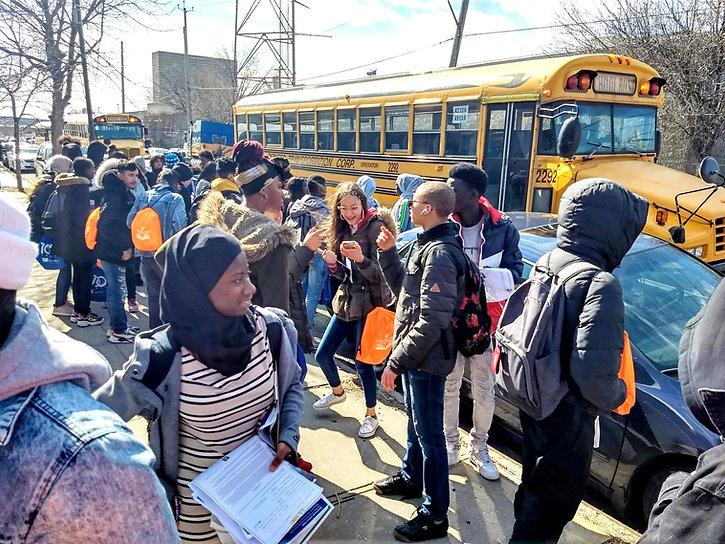 ICHS International Community High School Students on a trip