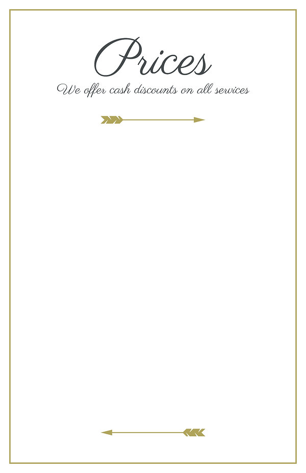 White Gold Elegant Lines Wedding Menu (2