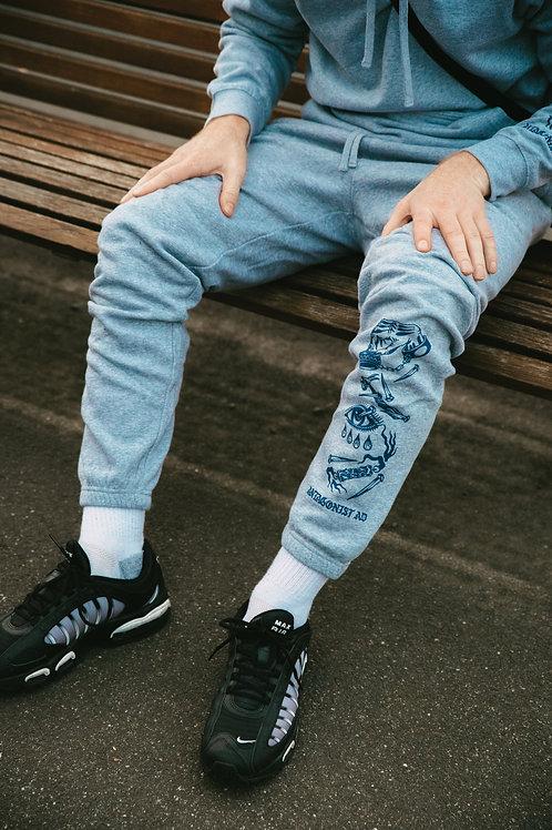 'THROUGH FIRE X JAD' Pants Grey